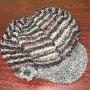 La Fenice Italian Wool Striped Winter Cap Hat